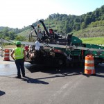 Shelly and Sands, Inc Vogele Vision Paver Hamm Roller